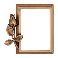 Rectangular photo frame 10x15cm - 4x6in In bronze, wall attached 279-1015