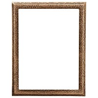 Rectangular photo frame 13x18cm - 5x7in In bronze, wall attached 287-1318