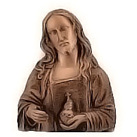 Wall plate Jesus Christ 23x30cm - 9x11,8in Bronze ornament for tombstone 3001