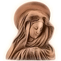 Wall plate Virgin Mary 24x28cm - 9,4x11in Bronze ornament for tombstone 3004