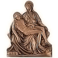 Wall plate Pietá 28x35cm - 11x13,7in Bronze ornament for tombstone 3005