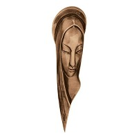 Wall plate Virgin Mary 30cm - 12in Bronze ornament for tombstone 3005