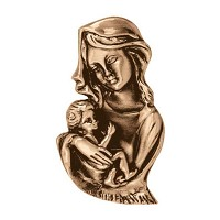Wall plate Virgin Mary 19x11cm - 7,5x4,3in Bronze ornament for tombstone 3017