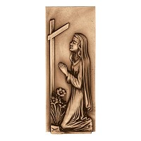 Wall plate Virgin Mary 28cm - 11in Bronze ornament for tombstone 3024