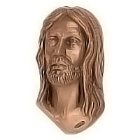 Wall plate Jesus Christ 10x17cm - 3,9x6,6in Bronze ornament for tombstone 3036