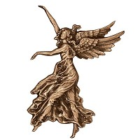 Wall plate angel 32x33cm - 12,5x13in Bronze ornament for tombstone 3038