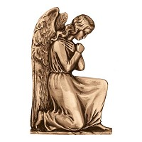 Wall plate angel 32x21cm - 12,5x8,3in Bronze ornament for tombstone 3039