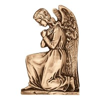 Wall plate angel 32x21cm - 12,5x8,3in Bronze ornament for tombstone 3040