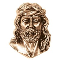 Wall plate Jesus Christ 17cm - 6,75in Bronze ornament for tombstone 3047