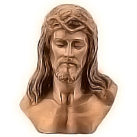 Wall plate Jesus Christ 31x38cm - 12,2x14,9in Bronze ornament for tombstone 3050