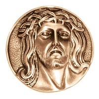 Wall plate Jesus Christ 9,5cm - 3,75in Bronze ornament for tombstone 3054