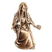 Wall plate Virgin Mary 15x9,5cm - 6x3,75in Bronze ornament for tombstone 3056