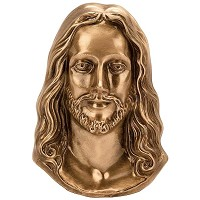 Wall plate Jesus Christ 19x12cm - 7,5x4,75in Bronze ornament for tombstone 3073