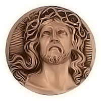Wall plate Jesus Christ Ø27cm - Ø10,6in Bronze ornament for tombstone 3076