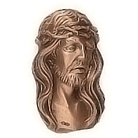 Wall plate Jesus Christ 12x21cm - 4,7x8,2in Bronze ornament for tombstone 3093
