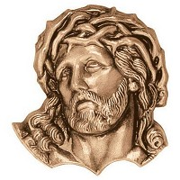 Wall plate Jesus Christ 11cm - 4,3in Bronze ornament for tombstone 3108
