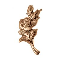 Wall plate rose 11x4cm - 4,3x1,5in Bronze ornament for tombstone 3113
