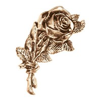 Wall plate roses 12,5x7cm - 5x2,75in Bronze ornament for tombstone 3114