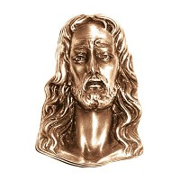 Wall plate Jesus Christ 10,5x8cm - 4x3in Bronze ornament for tombstone 3120