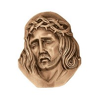 Wall plate Jesus Christ 10cm - 4in Bronze ornament for tombstone 3125
