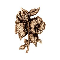 Wall plate flowers 9cm - 3,5in Bronze ornament for tombstone 3128