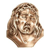 Wall plate Jesus Christ 10cm - 4in Bronze ornament for tombstone 3133-10