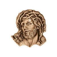 Wall plate Jesus Christ 6cm - 2,3in Bronze ornament for tombstone 3136