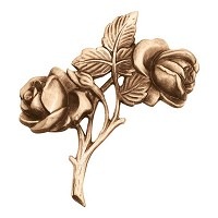 Wall plate roses 12,5x13cm - 5x5,1in Bronze ornament for tombstone 3152