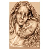 Wall plate Pietá 27x18cm - 10,5x7in Bronze ornament for tombstone 3164
