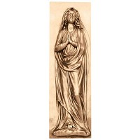 Wall plate Virgin Mary 35x13cm - 13,75x5in Bronze ornament for tombstone 3169-35