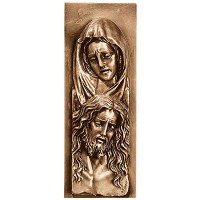 Wall plate Pietá 35x13cm - 13,75x5in Bronze ornament for tombstone 3172-35