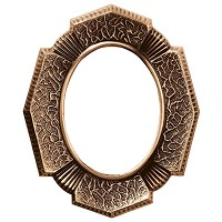 Oval photo frame 9x12cm - 3,5x4,75in In bronze, wall attached 320-912