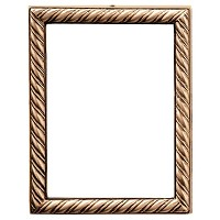 Rectangular photo frame 7x9cm - 2,7x3,5in In bronze, wall attached 322-79