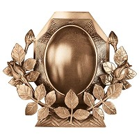 Oval photo frame 11x15cm - 4,3x6in In bronze, ground attached 323-1115