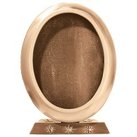 Oval photo frame 11x15cm - 4,3x6in In bronze, ground attached 325-1115