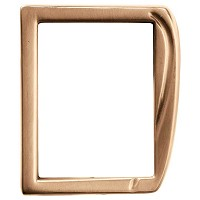 Rectangular photo frame 10x15cm - 4x6in In bronze, wall attached 326-1015