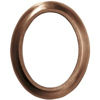 Oval photo frame 11x15cm - 4,3x6in In bronze, wall attached 327-1115