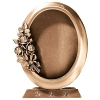 Oval photo frame 11x15cm - 4,3x6in In bronze, ground attached 328-1115