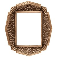 Rectangular photo frame 9x12cm - 3,5x4,75in In bronze, wall attached 340-912