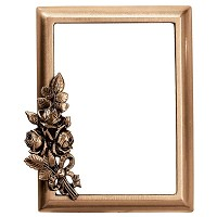 Rectangular photo frame 11x15cm - 4,3x6in In bronze, wall attached 343-1115