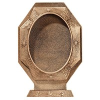 Oval photo frame 9x12cm - 3,5x4,75in In bronze, ground attached 348-912T