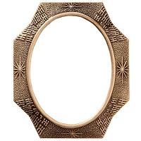 Oval photo frame 11x15cm - 4,3x6in In bronze, wall attached 348-1115