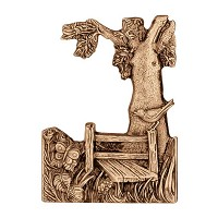 Wall plate landscape 17x12cm - 6,5x4,75in Bronze ornament for tombstone 3563