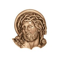 Wall plate Jesus Christ 6,5cm - 2,5in Bronze ornament for tombstone 3565