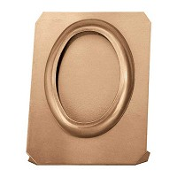 Oval photo frame on sheet 13x18cm - 5x7in In bronze, ground attached 360-1318