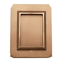 Rectanngular photo frame on sheet 9x12cm In bronze, ground attached 361-912