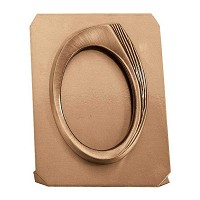 Oval photo frame on sheet 11x15cm - 4,3x6in In bronze, ground attached 362-1115