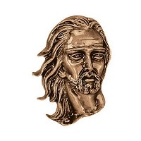 Wall plate Jesus Christ 18x13cm - 7x5in Bronze ornament for tombstone 3628