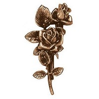 Wall plate roses 21cm - 8,25in Bronze ornament for tombstone 3723