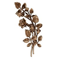 Wall plate roses right hand 38cm - 15in Bronze ornament for tombstone 3734-DX